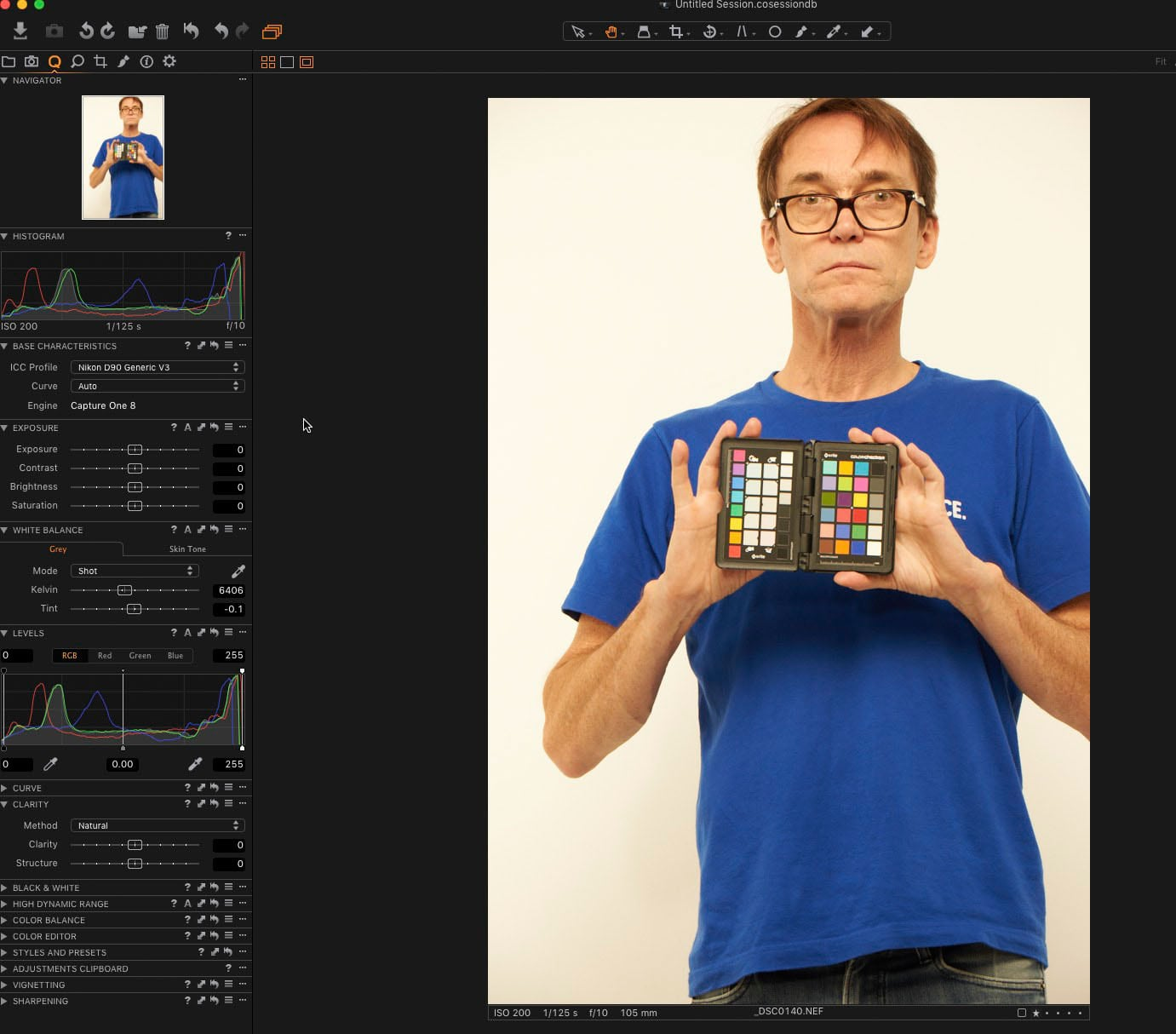 Capture One Default color profile X-Rite Color Checker Passport review